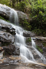 beautiful waterfall in the National Park  valley in the mountain