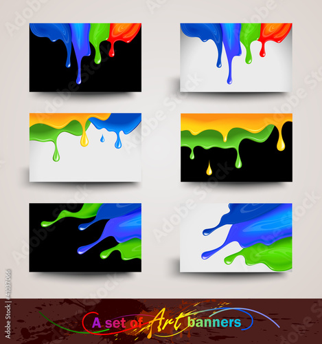 A set of Art banners. Vector illustration