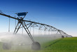 Crop Irrigation using the center pivot sprinkler system