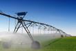 Leinwanddruck Bild - Crop Irrigation using the center pivot sprinkler system