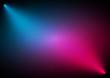Mavi kırmızı projektörlü background