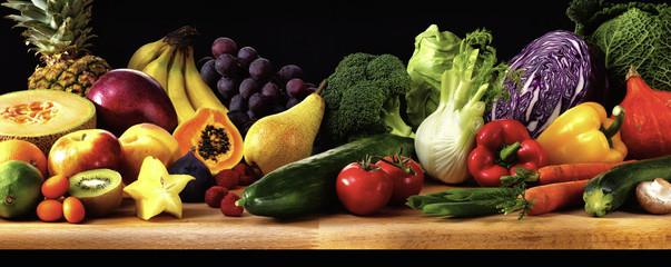 Obst Gemüse Früchte Panorama