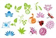 colorful nature icons , Eco friendly ,India, Asia