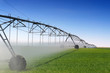 Crop Irrigation using the center pivot sprinkler system - 41038043