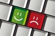 Positiv oder negativ bewerten