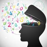 Fototapety Kopf, Zahlen, Mathematik