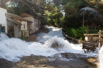set allagato - inondazione villaggio