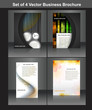 set of four business brochure vector