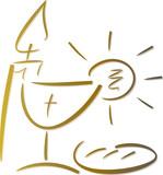 Symbol-Set: Christliches Abendmahl (Gold)