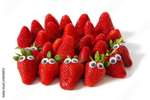 lustige Erdbeeren