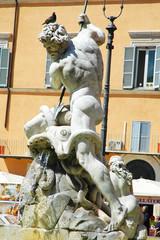 Tritone di una fontana di Piazza Navona, Roma, Italia