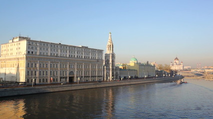 Russia, Moscow,  view of the Moskva River