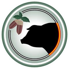 Pig circle icon