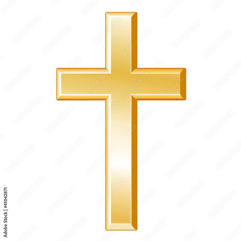 Christianity symbol gold cross crucifix christian faith icon wall christianity symbol gold cross crucifix christian faith icon wall sticker biocorpaavc Gallery
