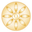 Buddhism Symbol, golden Lotus blossom, icon of Buddhist faith