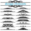 design elements text framework set