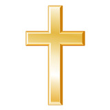 Christianity Symbol, gold cross, crucifix, Christian faith icon