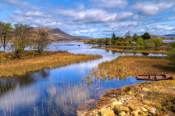Connemara mountains and lake scenery, Ireland