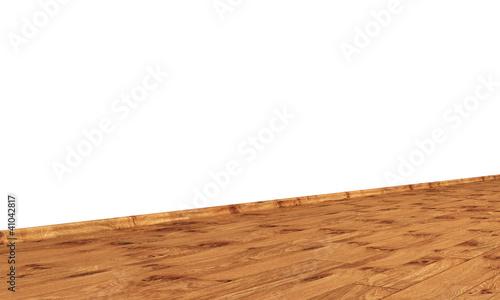 Wand mit Holzboden diagonal - Eiche mit Astlöchern