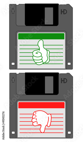 Diskette retro data
