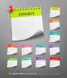 White paper note. vector illustration