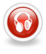 "Light Red Icon ""Headphones"""