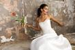 Grunge bride beauty