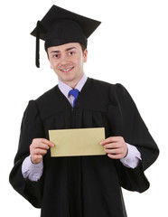 Graduate with an envelope