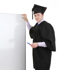 Graduate with a board,