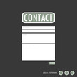 Vector retro style Web Contact page layout