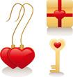 Векторные иконки о любви