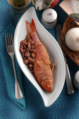 Triglie e fagioli Mullet and beans