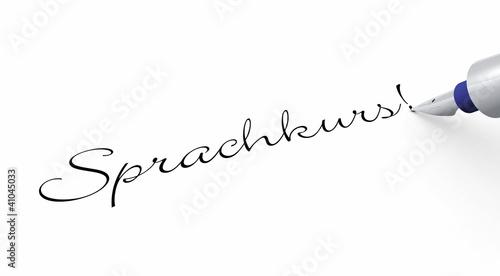 Stift Konzept - Sprachkurs!
