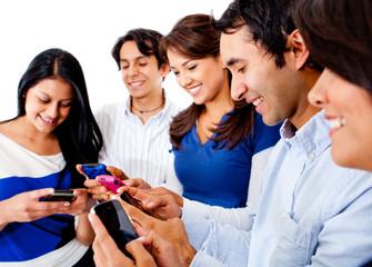 Friends text messaging