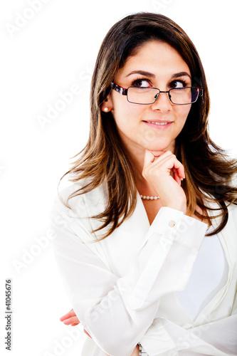 Thoughtful businesswoman