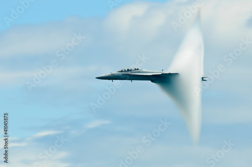 Military plane sound barier