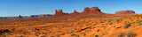 Monument Valley Panorama taken from the north in Utah