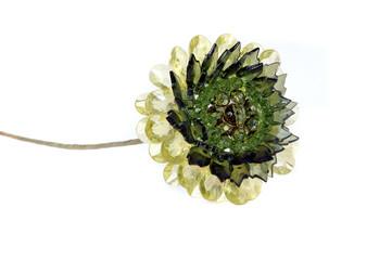 craft beaded crystal of sunflower