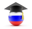 education in russia graduation cap