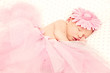 Adorable sleeping newborn ballerina