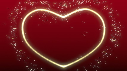 Sparkling heart shape