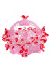 handicraft of beads crystal basket shaped plastic bowl