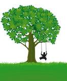 Baum mit Schaukel