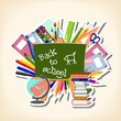 back to school - blackboard and suppliers