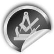Handwerkszeichen- Schreiner- Sticker