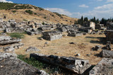 Necropolis in old greece town Hierapolis (now Turkey).