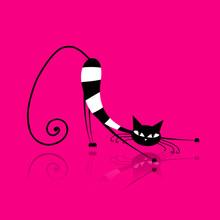 Изящные полосатый кот для вашего дизайна