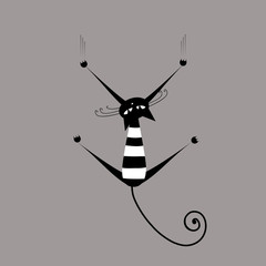 Funny striped cat for your design