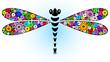 Vivid fantasy dragonfly