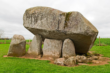 Brownshill dolmen in Ireland
